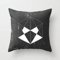 hexagon Throw Pillows featuring Hexagon by eARTh