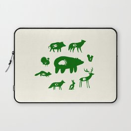 Nature Trail in Forest Green and Cream Laptop Sleeve
