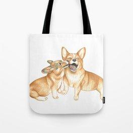 Corgi and Bess Tote Bag