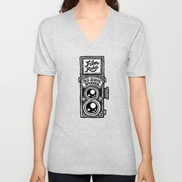 Analog Film Camera Medium Format Photography Shooter Unisex V-Neck