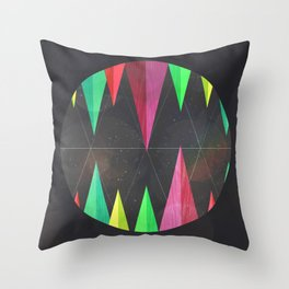 Wood Teeth Throw Pillow