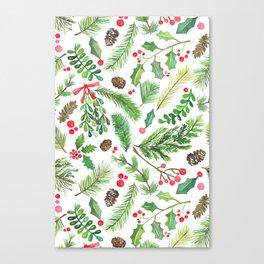 Lovely Christmas Greenery Canvas Print