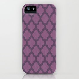 Purple Moroccan iPhone Case