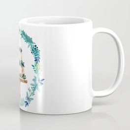 Cake Wreath Butterfly Leaves Coffee Mug