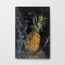 A splash of pineapple Metal Print