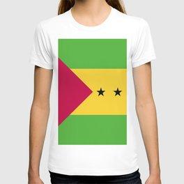 Sao Tome and Principe flag emblem T-shirt