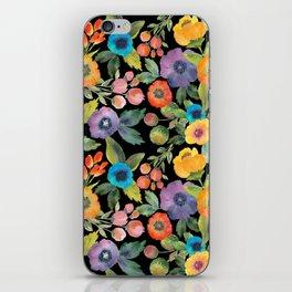 Poppies on Black iPhone Skin