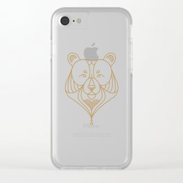 Gold Bear One Clear iPhone Case