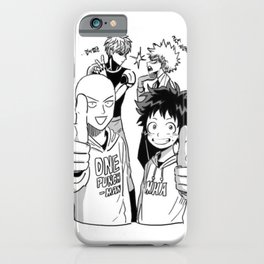 One Punch Man Vs Boku no Hero Academia iPhone Case