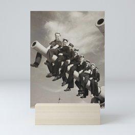 SEAMEN ON A NAVAL GUN ABLE SEAMAN DAVID RALPH GOODWIN WORLD WAR II 1939-1948 Mini Art Print