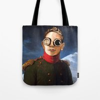 gore Tote Bags featuring DM : A classic Martin Lee Gore by Luc Lambert