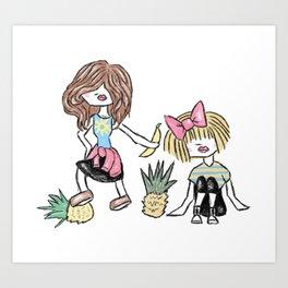 Sarah & Rebecca Art Print