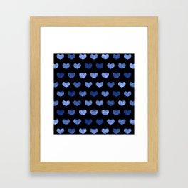 Cute Hearts III Framed Art Print