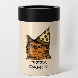 Pizza Party Cat: Funny Animal Kitty Can Cooler