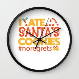 Christmas List Cheeky Kids Biscuits Gift Wall Clock