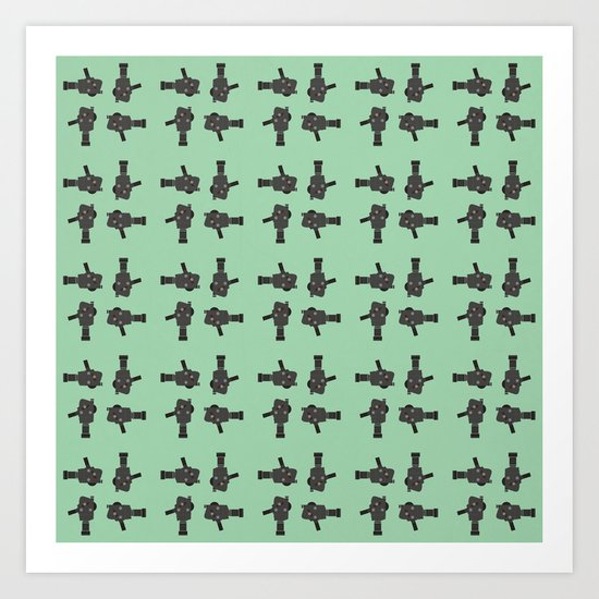 camera 02 pattern Art Print