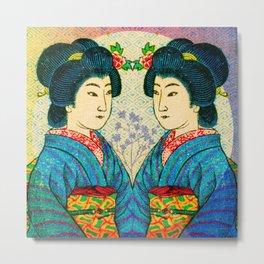 2 Geishas Metal Print