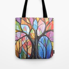 Abstract Art Landscape Original Painting ... Colors of the Wind Tote Bag