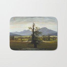 Caspar David Friedrich - Village Landscape in Morning Light / The Lone Tree (1822) Bath Mat