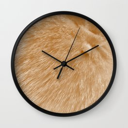Orange Fur Wall Clock