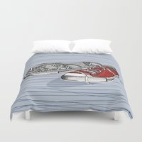 converse Duvet Covers featuring Converse Shoes by Slish