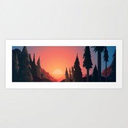 Canyon Coast Art Print