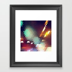 Triangle Pattern Framed Art Print