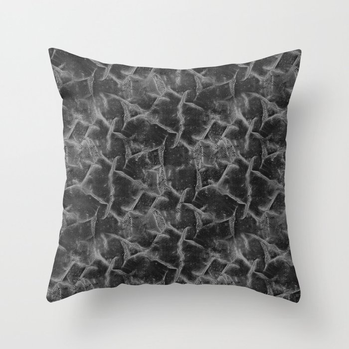 Textured pattern grey shades. Throw Pillow