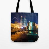 metallic Tote Bags featuring Metallic by Sonic Highlark