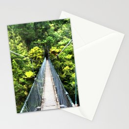 Is this your real path? The Bridge in Wild Rainforest Stationery Cards