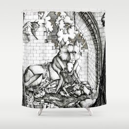 Lovers in the ruins Shower Curtain
