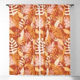 Tropical Leaves - Boho Blackout Curtain