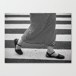 black shoes Canvas Print