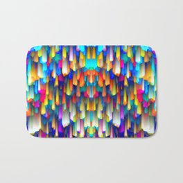 Colorful digital art splashing G390 Bath Mat