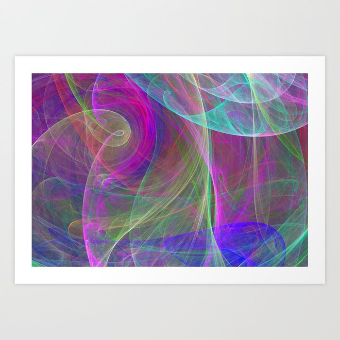 Air colors Art Print