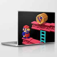 donkey kong Laptop & iPad Skins featuring Inside Donkey Kong by Metin Seven