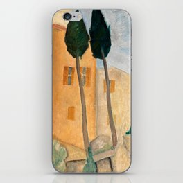 """Amedeo Modigliani """"Cypresses and Houses at Cagnes (Cyprès et maisons à Cagnes)"""" iPhone Skin"""