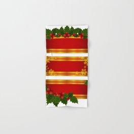 Christmas holly decoration Hand & Bath Towel