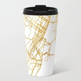 MONTREAL CANADA CITY STREET MAP ART Travel Mug