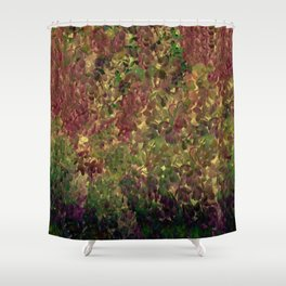 Floral Fantasy Fall Abstract Shower Curtain