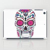 sugar skull iPad Cases featuring Sugar Skull by Laura Maxwell