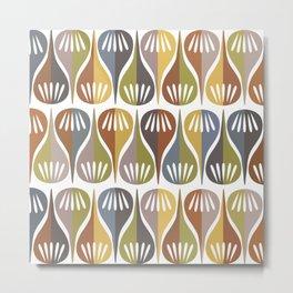 Mid-Century Pattern No. 103 Metal Print