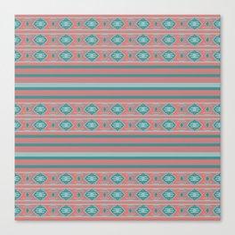 Ethnic Bohemian Style Pattern Canvas Print