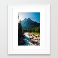 river Framed Art Prints featuring River by Tomas Hudolin