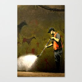 Banksy - Removing Historys Art Canvas Print