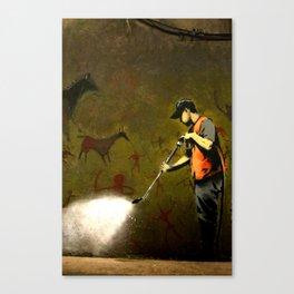 Banksy - Removing Historys Art Canvas Print