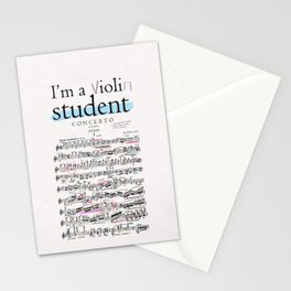Violin student Stationery Cards