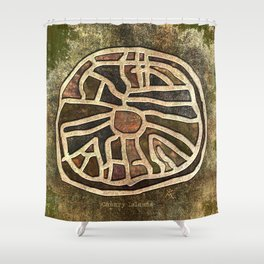 Ancestry / Map Shower Curtain