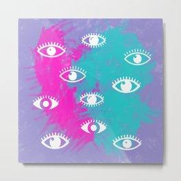 Eyes, the look Metal Print