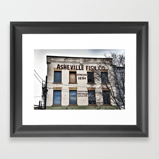 Asheville Fish Co. Framed Art Print